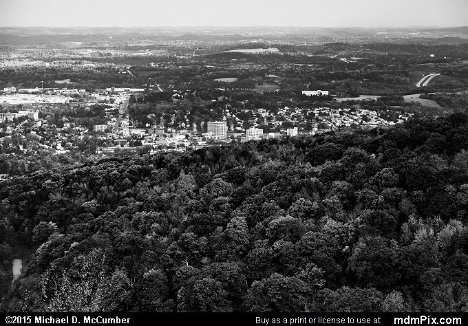 Uniontown Skyline (Uniontown Skyline Black and White Picture 009 - October 22, 2015 from Hopwood, Pennsylvania)
