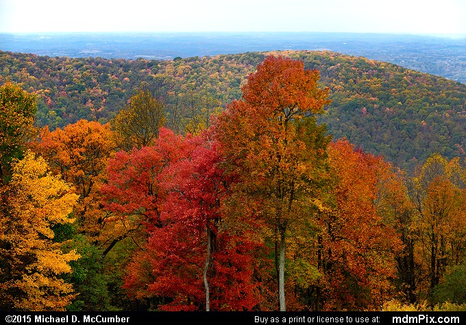 Mount Summit Scenic Overlook (Mount Summit Scenic Overlook Picture 018 - October 22, 2015 from Hopwood, Pennsylvania)