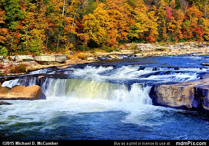 Ohiopyle Falls (Ohiopyle Falls Picture 021 - October 22, 2015 from Ohiopyle State Park, Pennsylvania)