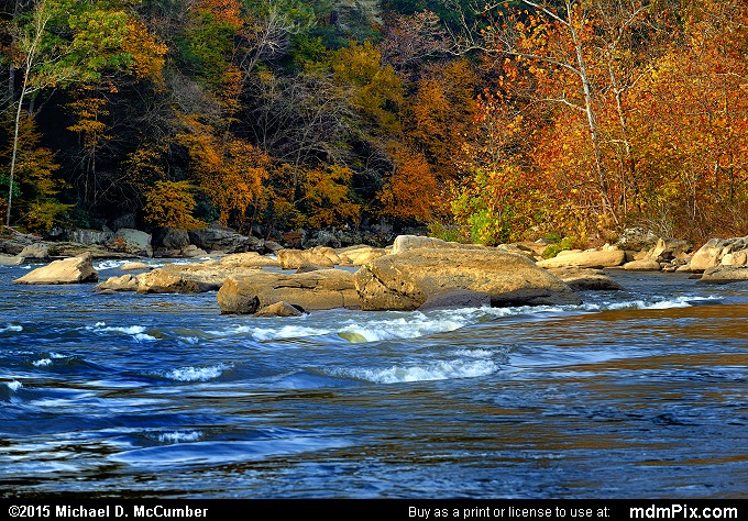 Youghiogheny River (Youghiogheny River Picture 039 - October 22, 2015 from Ohiopyle State Park, Pennsylvania)