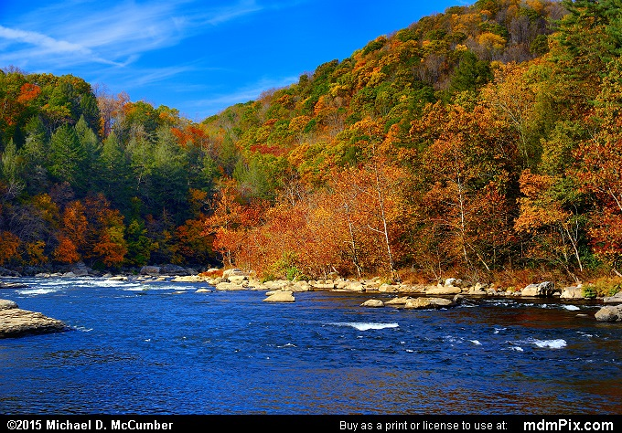 Youghiogheny River (Youghiogheny River Picture 056 - October 22, 2015 from Ohiopyle State Park, Pennsylvania)
