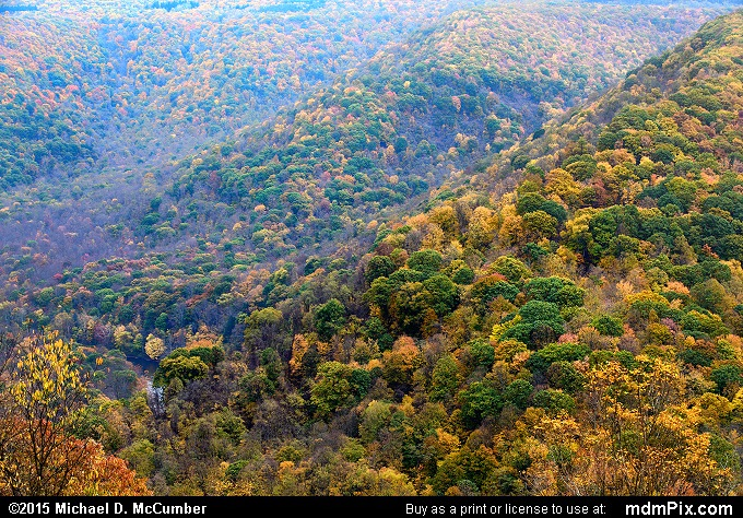 Baughman Rock Overlook (Baughman Rock Overlook Picture 079 - October 22, 2015 from Ohiopyle State Park, Pennsylvania)