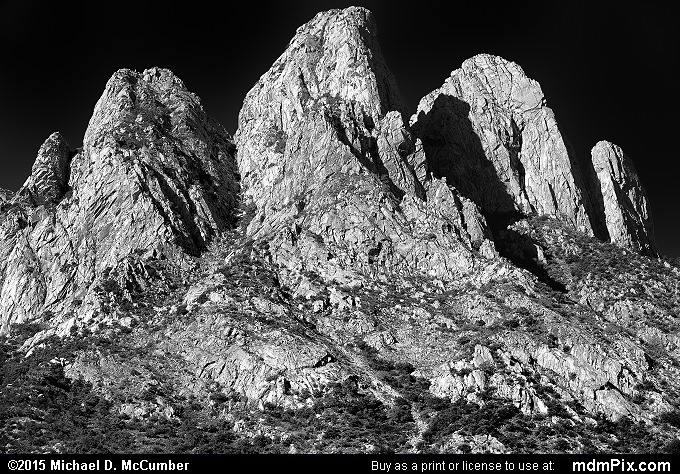 Rabbit Ears (Rabbit Ears Black and White Picture 001 - October 26, 2015 from Organ Mountains-Desert Peaks National Monument, New Mexico)