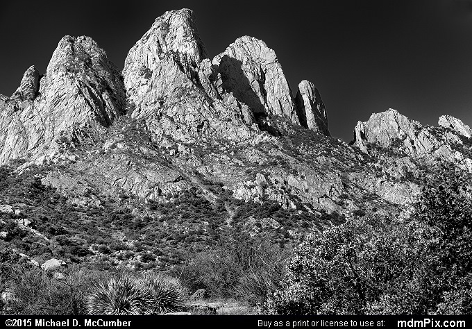 Rabbit Ears (Rabbit Ears Black and White Picture 010 - October 26, 2015 from Organ Mountains-Desert Peaks National Monument, New Mexico)