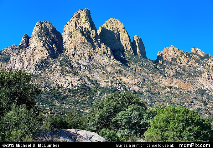 Rabbit Ears (Rabbit Ears Picture 027 - October 26, 2015 from Organ Mountains-Desert Peaks National Monument, New Mexico)