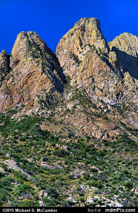 Rabbit Ears (Rabbit Ears Picture 037 - October 26, 2015 from Organ Mountains-Desert Peaks National Monument, New Mexico)