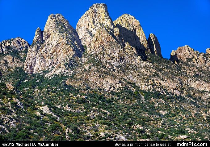 Rabbit Ears (Rabbit Ears Picture 038 - October 26, 2015 from Organ Mountains-Desert Peaks National Monument, New Mexico)