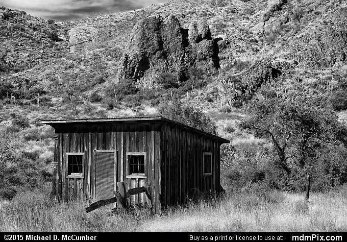 Cox Ranch (Cox Ranch Black and White Picture 014 - October 27, 2015 from Organ Mountains-Desert Peaks National Monument, New Mexico)