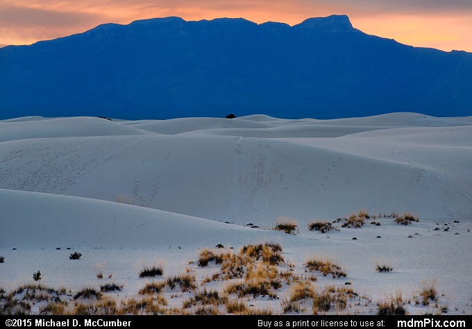 San Andres Mountains (San Andres Mountains Picture 002 - October 28, 2015 from White Sands National Monument, New Mexico)