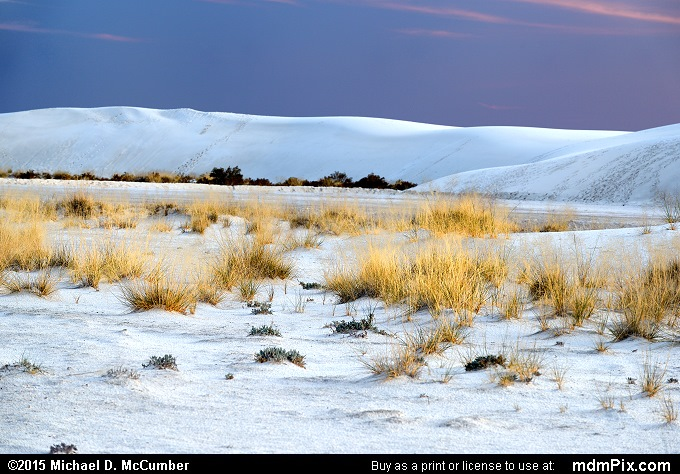 Gypsum Sand Dune (Gypsum Sand Dune Picture 004 - October 28, 2015 from White Sands National Monument, New Mexico)