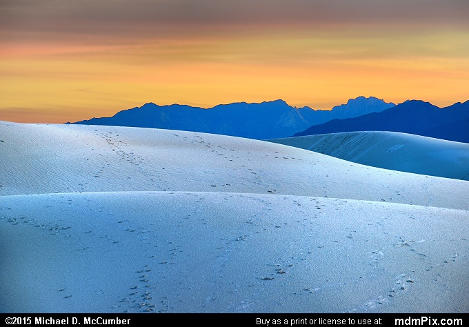 Gypsum Sand Dune (Gypsum Sand Dune Picture 006 - October 28, 2015 from White Sands National Monument, New Mexico)