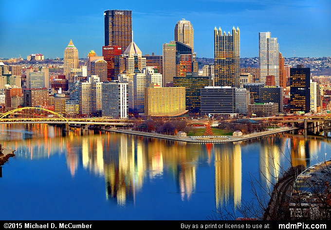 Pittsburgh Skyline (Pittsburgh Skyline Picture 003 - December 16, 2015 from Pittsburgh, Pennsylvania)