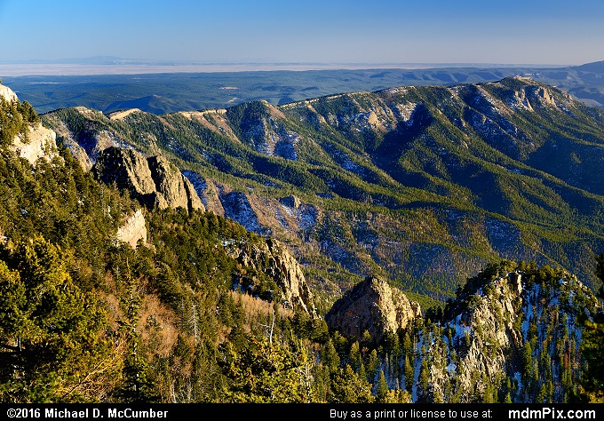 Sandia Peak and Mountains above Albuquerque, New Mexico