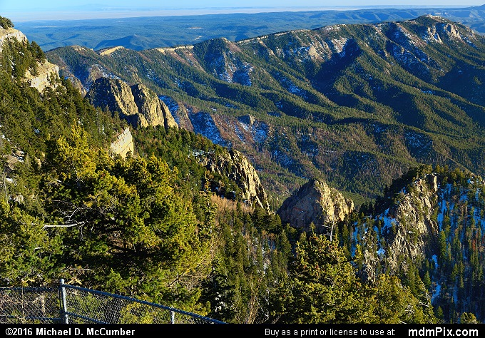 La Luz Trail (La Luz Trail Picture 010 - March 16, 2016 from Cedar Crest, New Mexico)