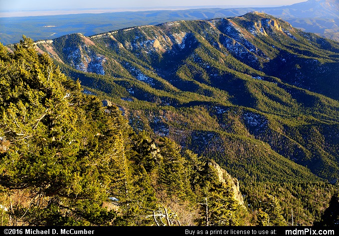Sandia Crest (Sandia Crest Picture 014 - March 16, 2016 from Cedar Crest, New Mexico)
