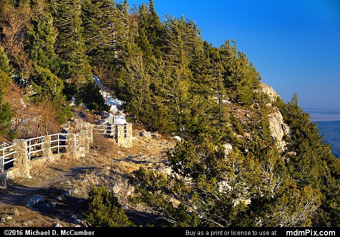 La Luz Trail (La Luz Trail Picture 016 - March 16, 2016 from Cedar Crest, New Mexico)