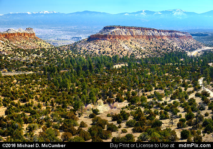 Mesa Landform (Mesa Landform Picture 002 - March 21, 2016 from Los Alamos, New Mexico)
