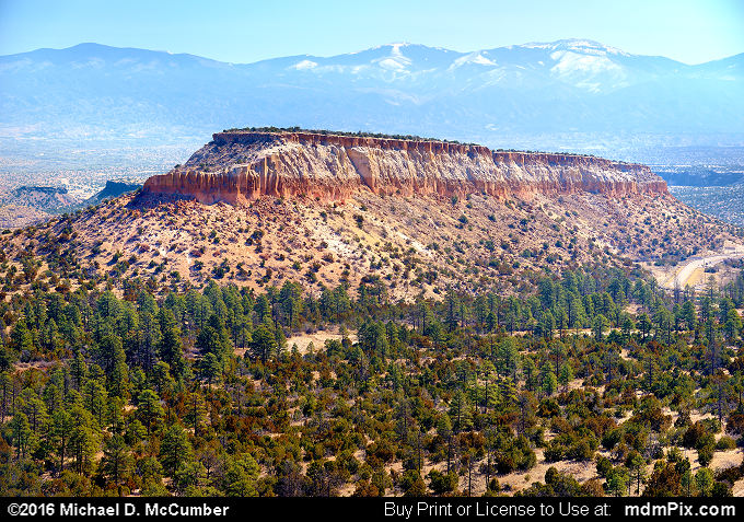 Santa Fe Mountains (Santa Fe Mountains Picture 012 - March 21, 2016 from Los Alamos, New Mexico)
