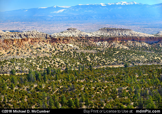 Santa Fe Mountains (Santa Fe Mountains Picture 017 - March 21, 2016 from Los Alamos, New Mexico)