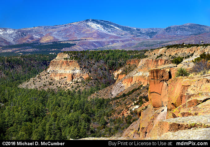 Pajarito Mountain (Pajarito Mountain Picture 020 - March 21, 2016 from Bandelier National Monument, New Mexico)