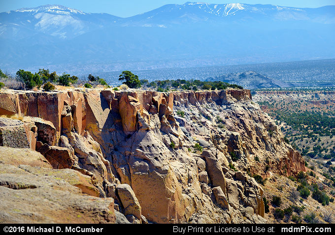 Santa Fe Mountains (Santa Fe Mountains Picture 024 - March 21, 2016 from Los Alamos, New Mexico)