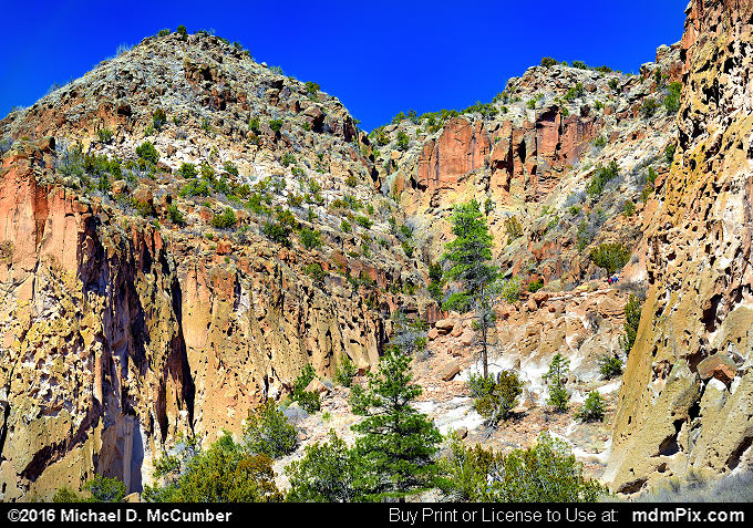 Frijoles Canyon (Frijoles Canyon Picture 038 - March 21, 2016 from Bandelier National Monument, New Mexico)