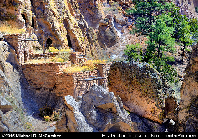 Cliff Dwelling (Cliff Dwelling Picture 042 - March 21, 2016 from Bandelier National Monument, New Mexico)