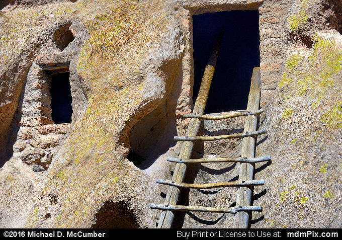 Cliff Dwelling (Cliff Dwelling Picture 046 - March 21, 2016 from Bandelier National Monument, New Mexico)