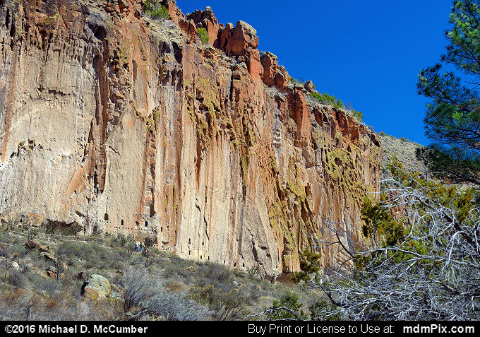 Frijoles Canyon (Frijoles Canyon Picture 053 - March 21, 2016 from Bandelier National Monument, New Mexico)