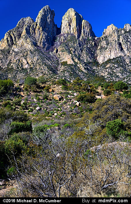 Rabbit Ears (Rabbit Ears Picture 003 - March 25, 2016 from Organ Mountains-Desert Peaks National Monument, New Mexico)