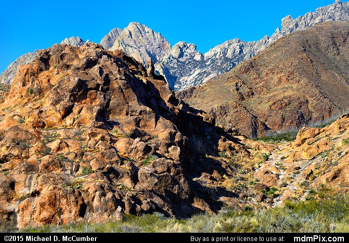 Organ Mountains (Organ Mountains Picture 026 - March 26, 2016 from Organ Mountains-Desert Peaks National Monument, New Mexico)