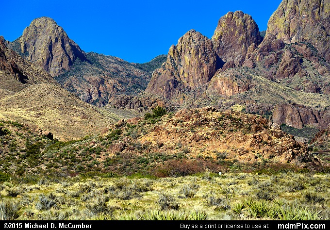 Organ Mountains (Organ Mountains Picture 035 - March 26, 2016 from Organ Mountains-Desert Peaks National Monument, New Mexico)