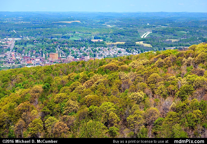Uniontown Skyline (Uniontown Skyline Picture 001 - May 8, 2016 from Hopwood, Pennsylvania)