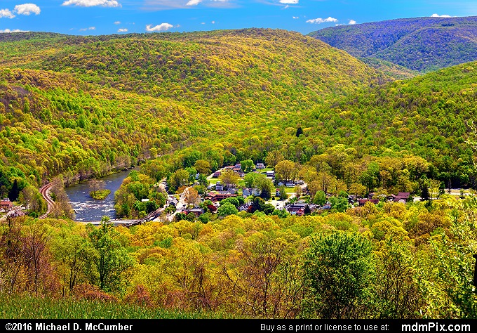 Tharp Knob Overlook (Tharp Knob Overlook Picture 015 - May 8, 2016 from Ohiopyle State Park, Pennsylvania)