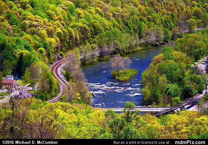 Railroad Tracks (Railroad Tracks Picture 016 - May 8, 2016 from Ohiopyle State Park, Pennsylvania)