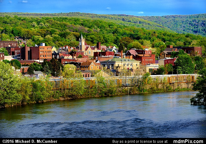 Connellsville Skyline (Connellsville Skyline Picture 063 - May 8, 2016 from Connellsville, Pennsylvania)