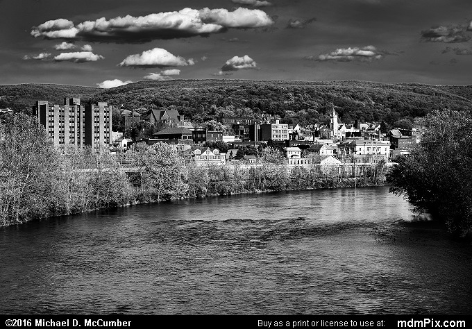 Connellsville Skyline (Connellsville Skyline Black and White Picture 069 - May 8, 2016 from Connellsville, Pennsylvania)