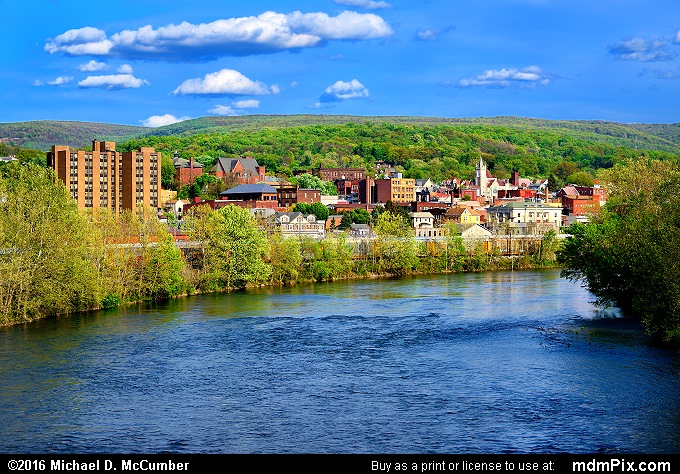 Spring Foliage Surrounding Connellsville, PA's Downtown