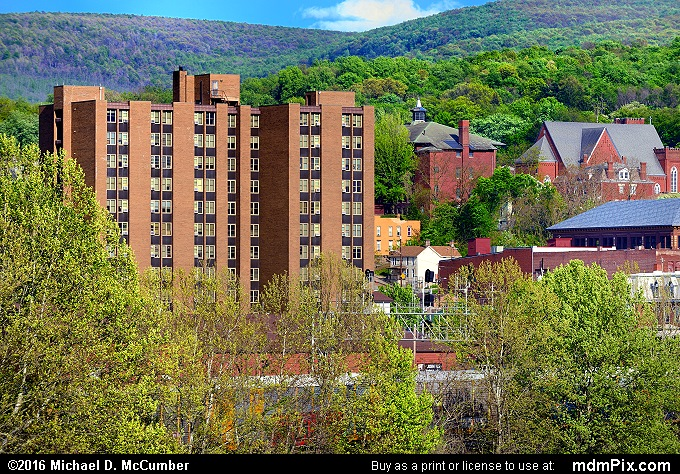 Connellsville Skyline (Connellsville Skyline Picture 071 - May 8, 2016 from Connellsville, Pennsylvania)