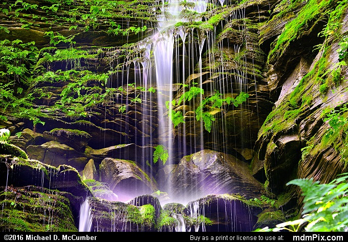 Cascading Waterfall (Cascading Waterfall Picture 014 - May 30, 2016 from Ohiopyle State Park, Pennsylvania)