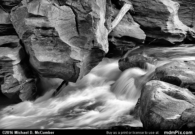 Indian Creek (Indian Creek Black and White Picture 008 - July 10, 2016 from Mill Run, Pennsylvania)