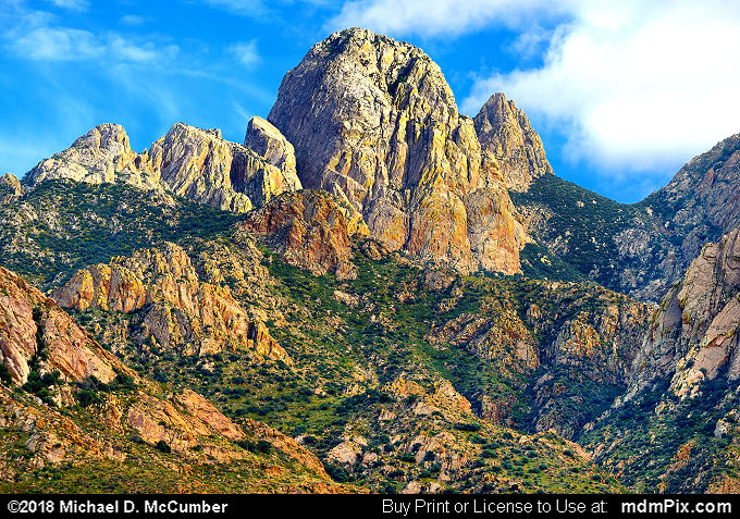 Rabbit Ears (Rabbit Ears Picture 048 - September 30, 2016 from Organ Mountains-Desert Peaks National Monument, New Mexico)