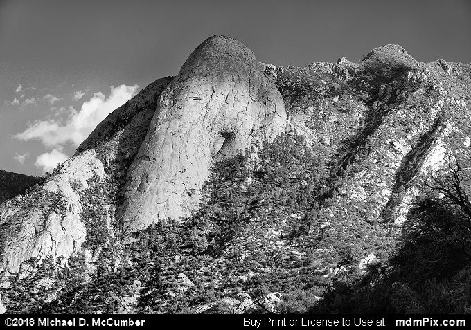 Sugarloaf Peak (Sugarloaf Peak Black and White Picture 014 - October 1, 2016 from Organ Mountains-Desert Peaks National Monument, New Mexico)