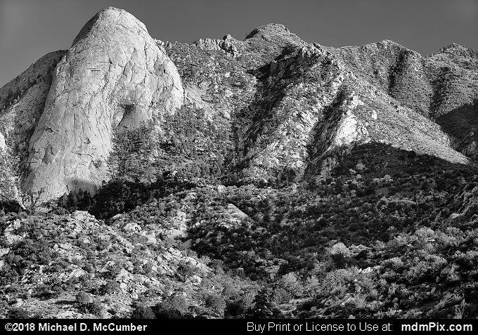 Organ Mountains (Organ Mountains Black and White Picture 017 - October 1, 2016 from Organ Mountains-Desert Peaks National Monument, New Mexico)
