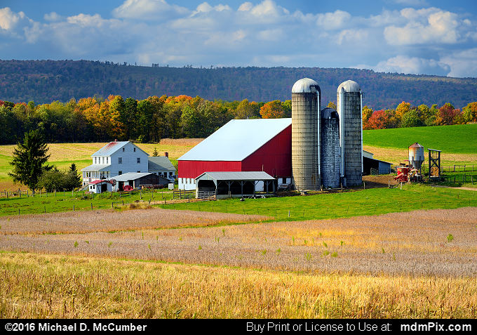Amish Farm below Mount Davis in Somerset County