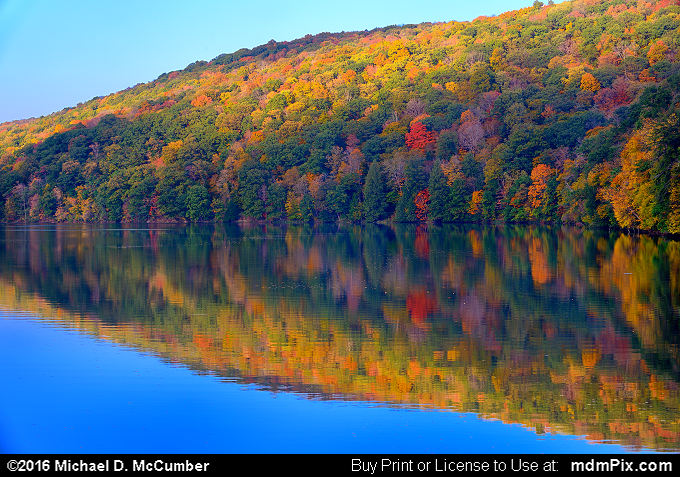 Water Reflection (Water Reflection Picture 039 - October 15, 2016 from Laurel Hill State Park, Pennsylvania)
