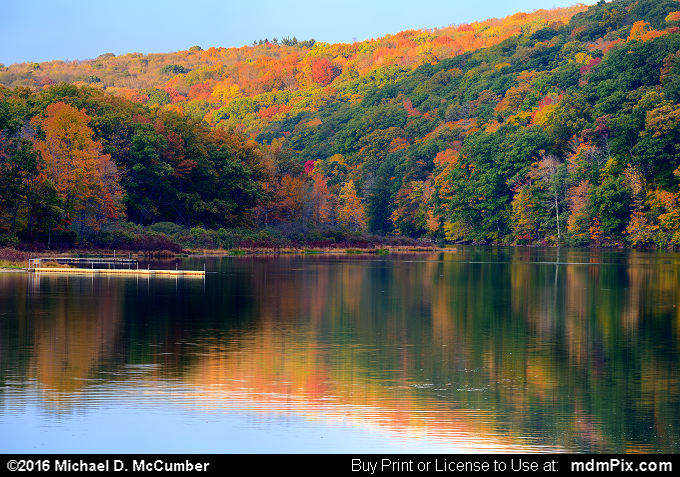 Laurel Hill Lake (Laurel Hill Lake Picture 040 - October 15, 2016 from Laurel Hill State Park, Pennsylvania)