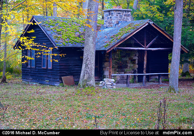 Log Cabin (Log Cabin Picture 065 - October 15, 2016 from Laurel Hill State Park, Pennsylvania)