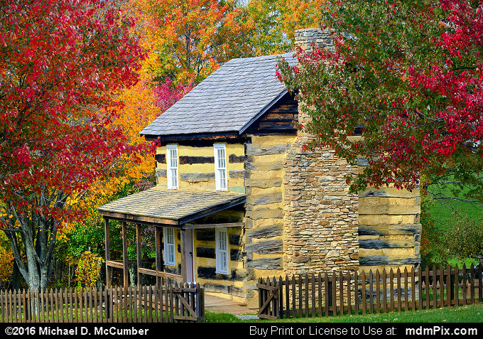 Log Cabin (Log Cabin Picture 054 - October 19, 2016 from Somerset, Pennsylvania)
