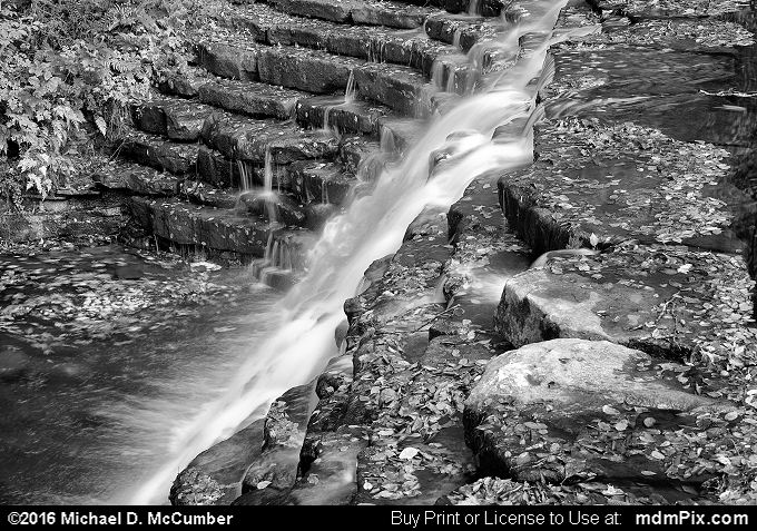 Jones Mill Run Dam (Jones Mill Run Dam Black and White Picture 104 - October 19, 2016 from Laurel Hill State Park, Pennsylvania)